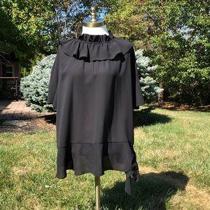 Eloquii black short sleeve blouse